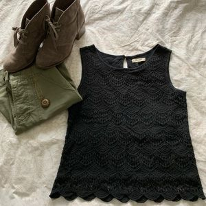 Madewell cropped black tank top
